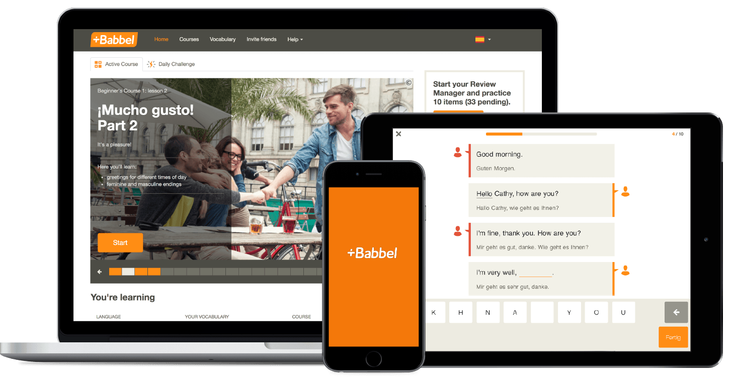 babbel compatible devices